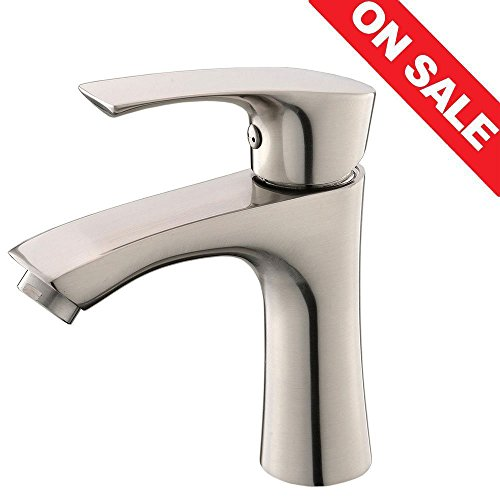 6 inch centerset bathroom faucet. KINGO HOME Contemporary Stainless Steel Single Hole Lavatory Handle  Brushed Nickel Bathroom Faucet Hot and Cold Water Vanity Faucets