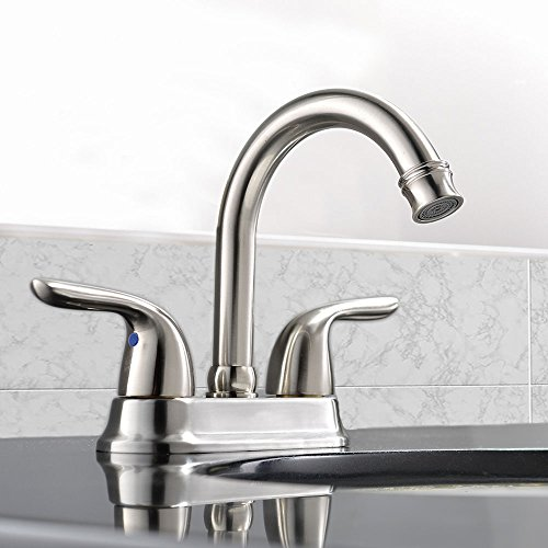 VCCUCINE Contemporary Brushed Double Handles Widespread Bathroom ...